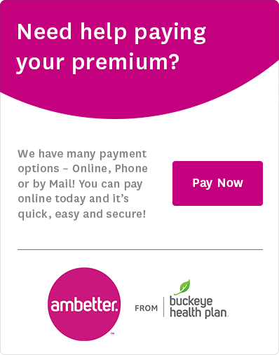 Need help paying your premium? We have many payment options - Online, Phone, or by Mail! You can pay online today and it's quick, easy, and secure! Pay now.